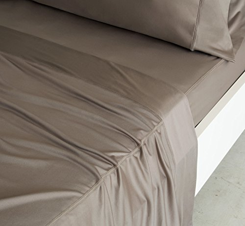 SHEEX - LUXURY COPPER Sheet Set with 2 Pillowcases, Ultra-Soft, Breathable PRO+IONIC Copper Fabric for a Cool, Dry and Comfortable Night's Sleep, Taupe (California King) by Sheex