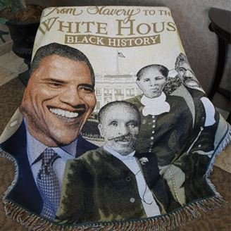 African American Expressions - from Slavery to White House Tapestry Throw (100% Cotton, 4' x 5') TH-32 ()