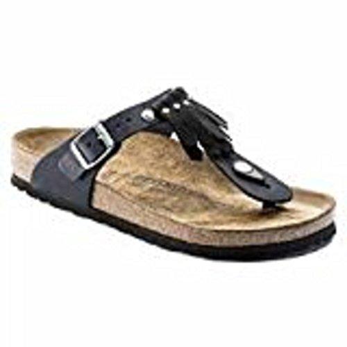 Blk Leather Footwear - 1