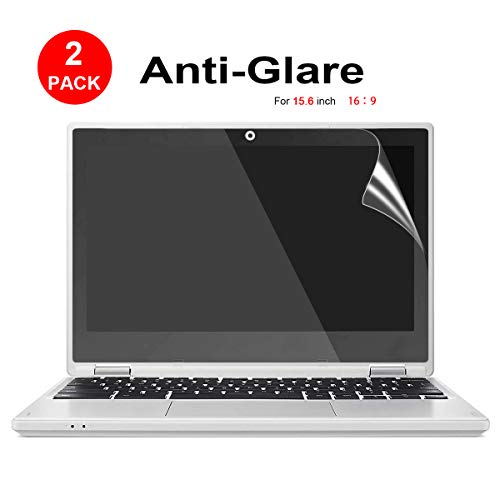 [2 Pack] 15.6-inch Laptop Crystal Clear Screen Protector, Notebook Computer Screen Guard Protector Compatible HP/DELL/Asus/Acer/Sony/Samsung/Lenovo/Toshiba etc, Display 16:9