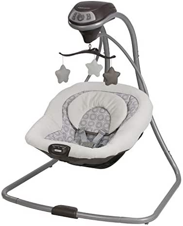 Graco Simple Sway Baby Swing | 2 Speed Vibration, Abbington