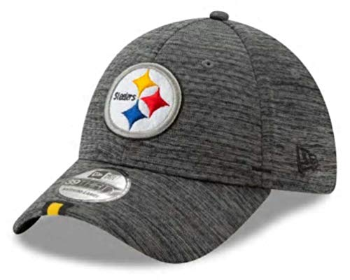 (New Era 2019 NFL Pittsburgh Steelers Training Camp Hat Cap Flex 39Thirty (L/XL) Graphite)