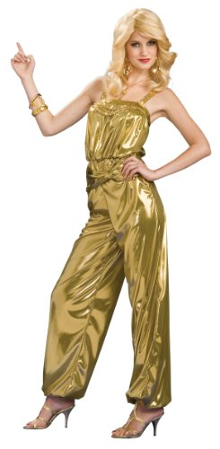 Rubie's Solid Diva Jumpsuit, Gold, One Size (Shoes From The 70s)