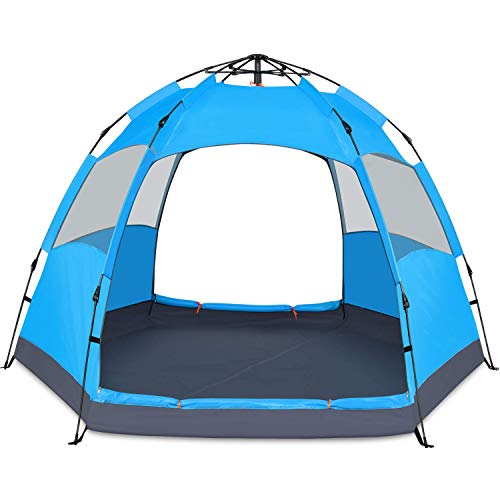 BATTOP 4 Person Tent for Camping Double Layer Family Camping Tent for 4 Seasons Waterproof with Instant Setup (Best 12 Person Tent 2019)