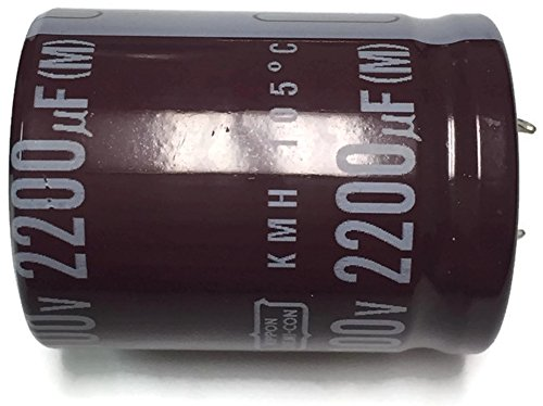 - Set of 1, 105°C Electrolytic Capacitor 2200uF 100V (2200 mfd 100V) 20% Radial, 1 3/16