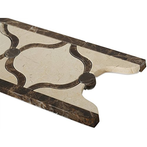 CO-Mosaic Jet Aladdin Crema/Emperador (Sold by:SHEET) MJALADCRMRDKEMP by Soho (Image #2)