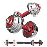 15kg-manubri-elettrolitico-Acciaio-Puro-Regolabile-Peso-Bilanciere-casa-Fitness-Equipment-Set-Biella-e-Storage-Box