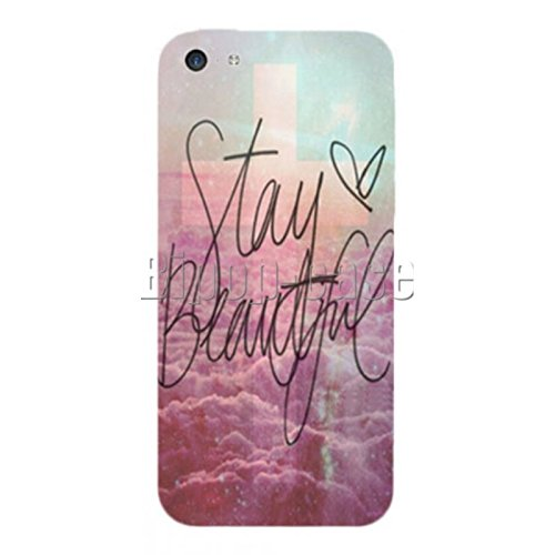 COQUE PROTECTION TELEPHONE IPHONE 5C - STAY BEAUTIFUL CROIX NUAGE