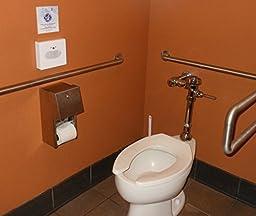 Sanitary Napkin Disposal Bags and Metal Dispenser