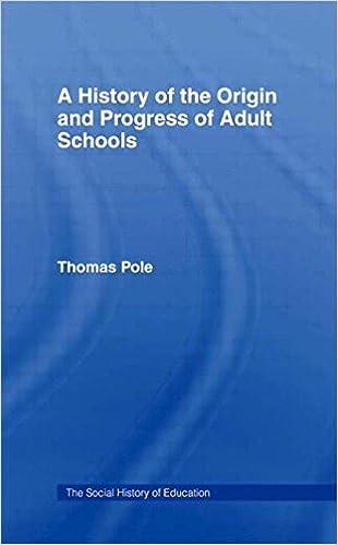 History of the Origin and P Cb: Hist Origin Adult School (Social History of Education)