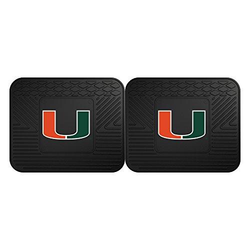 FANMATS 12287 University of Miami Utility Mat - 2 (Miami Hurricanes Mat)