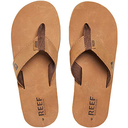 (Reef Men's Leather Smoothy, Bronze/Brown, 8 M US)