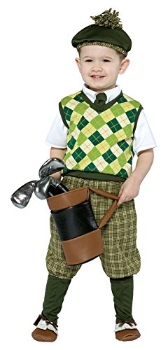 UHC Boy's Future Golfer Outfit Funny Theme Fancy Dress Toddler Halloween Costume, Toddler (3-4T) (Funny Golf Halloween Costumes)