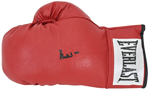 Muhammad Ali Authentic Signed Red Everlast Leather boxing glove BAS #A72349