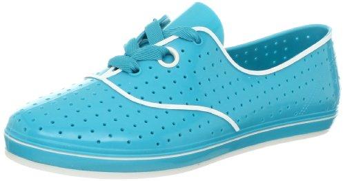 mel Dreamed by melissa Women's Lime II Fashion Sneaker,Light Blue,9 M US