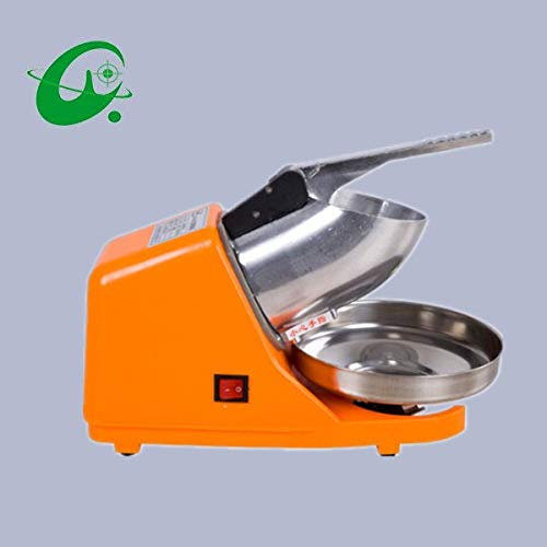 Electric Ice crusher stainless steel electric ice crusher, 65KG/H Ice shaver, free send you ice scraper (Dual Blade Ice Scraper)