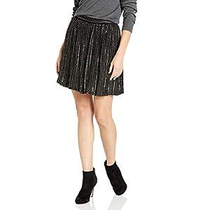 Haute Hippie Women's Leather Sequin Skirt