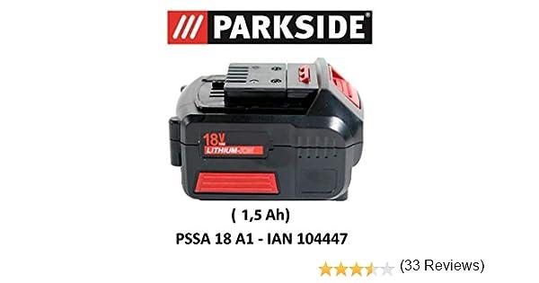 /2.6/A1/para pssa 18/A1/ /Ian 104447/bater/ía Sierra de sable Parkside bater/ía 18/V 2,6/Ah Pap 18/