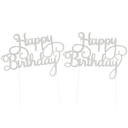 SUNBEAUTY Silver Glitter Birthday Decoration product image