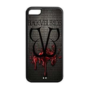 Black Veil Brides Design Solid Rubber Customized Cover Case for iPhone 5c 5c-linda133