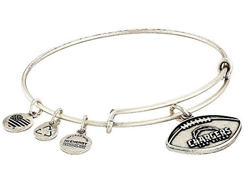 Alex and Ani Women's NFL San Diego Chargers Football Bangle Rafaelian Silver One Size