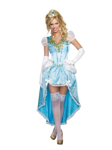 Dreamgirl Women's Having A Ball, Blue, Medium (Sexy Princess Costumes For Adults)