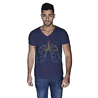 Creo Lungs Animal T-Shirt For Men - M, Navy