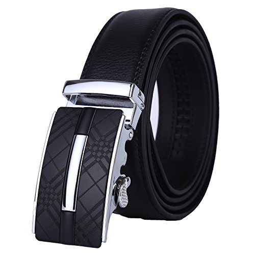 Lavemi Men's Real Leather Ratchet Dress Belt with Automatic Buckle,Elegant Gift Box(25-0217) -