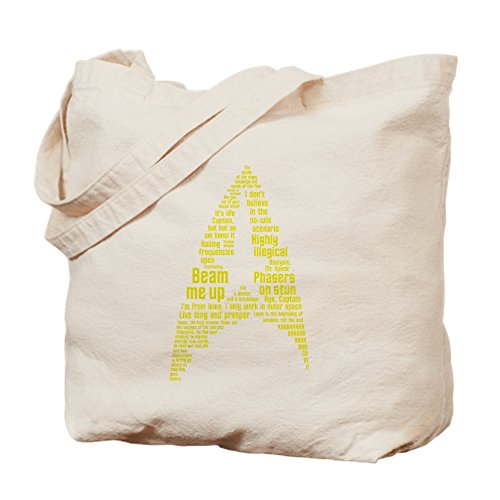 CafePress - Star Trek Quotes (Insignia) Tote Bag W/Backprint - Natural Canvas Tote Bag, Cloth Shopping (Star Trek Cloths)