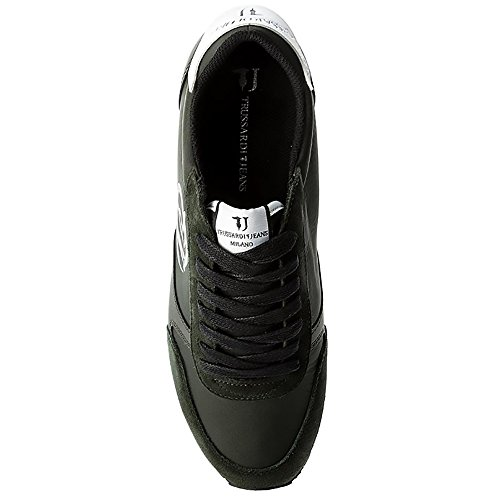 Schwarz Trussardi Herren Schwarz Jeans Sneaker 1Fqn7F