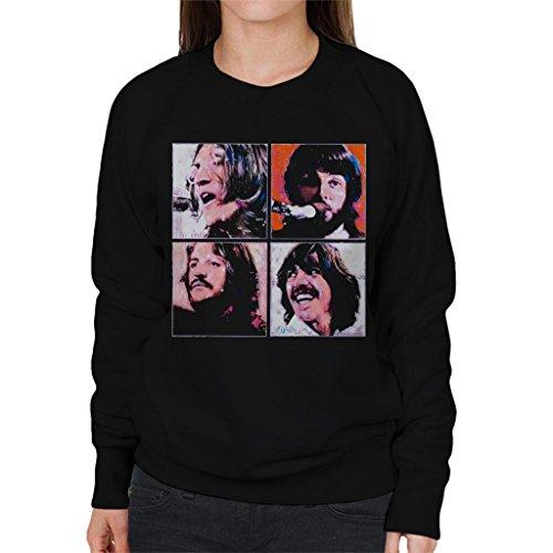 Beatles Portrait - Sidney Maurer Original Portrait of The Beatles Let It Be Women's Sweatshirt