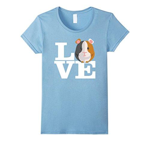 Baby Blue Pig (Womens Guinea Pig Shirt, Love Guinea Pig T-Shirt Medium Baby Blue)