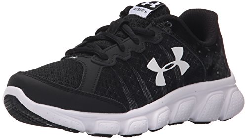 Under Armour Boys' Pre School Assert 6, Black (001)/White, 3