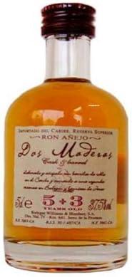 Ron Dos Maderas 5+3 miniatura 5cl: Amazon.es: Alimentación y ...