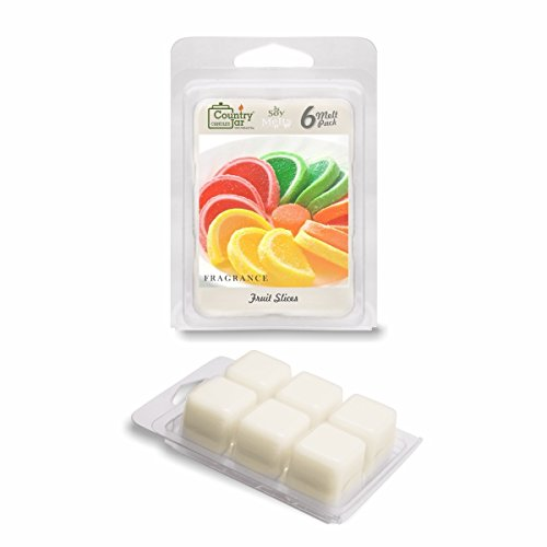 Slice Soy (Country Jar Fruit Slices Soy Wax Melt Tarts (6-Cubes) 2.75 oz. [+] Special! 3 for $17.50! 4 for $21.65 (Mix OR Match))