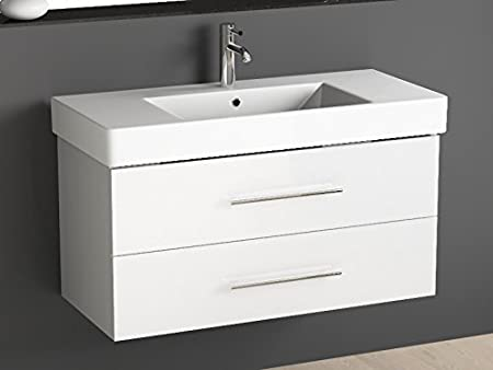 Cabine Bagno Complete : Aqua bagno bathroom furniture centre 100 cm with ceramic wash basin