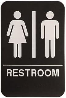 Unisex Restroom Sign Black/White   ADA