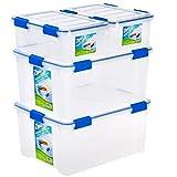 Ziploc WeatherShield 26.5 Quart Storage Box, 4 Pack, Clear