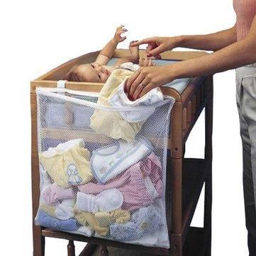 Infant Baby Dirty Clothes Diapers Hanging Storage Bag Organizer Holder For Cribs Bed by Completestore from Completestore