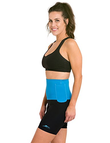 Delfin Spa Women's Mineral Infused High Waist Exercise Shorts, Turquoise, Large (Spa Capris Delfin)