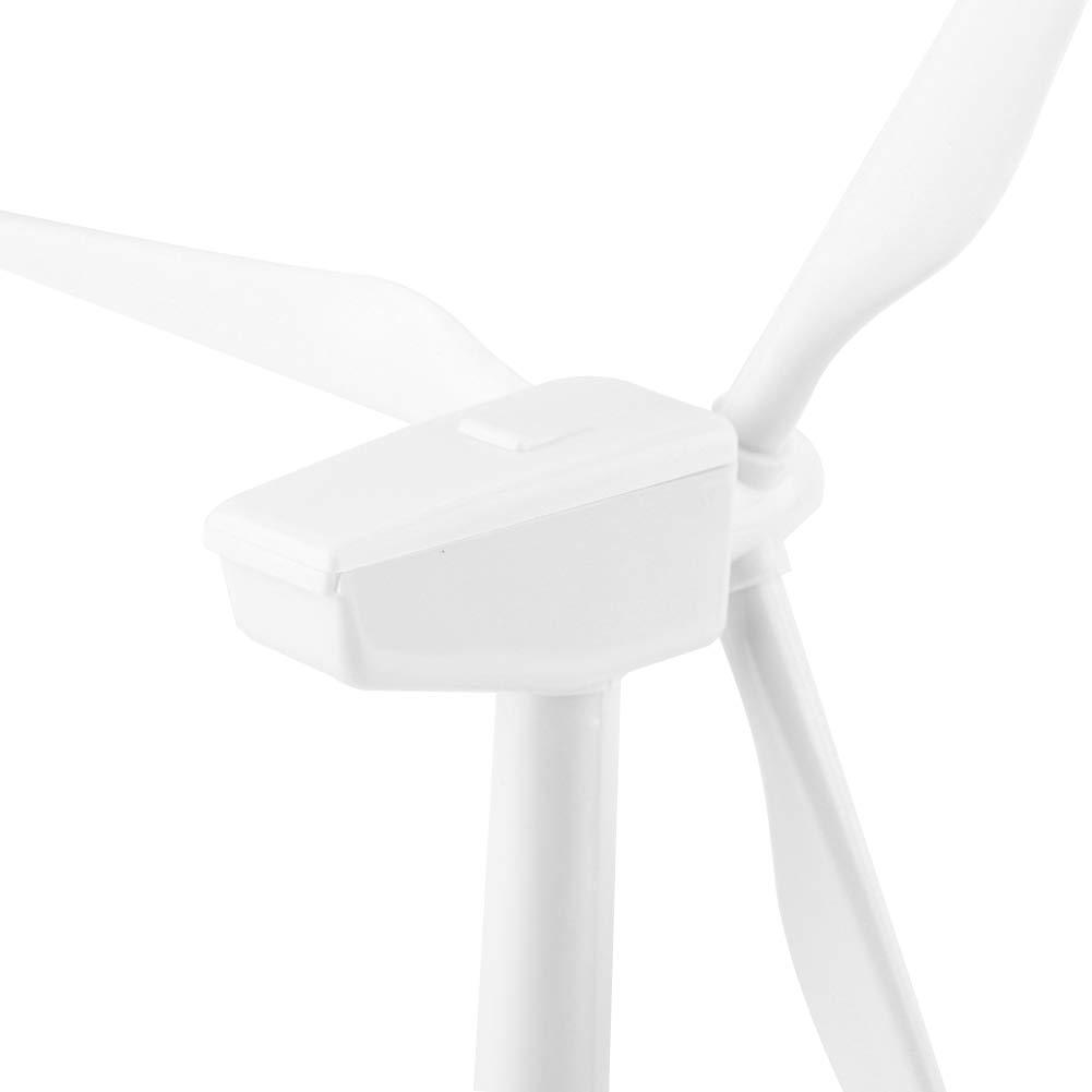 Molino viento Modelo ensamblado Solar Powered 3D Decoraci/ón de escritorio DIY molino viento soporte de exhibici/ón solar herramienta de ense/ñanza Ni/ños Ni/ños Regalo juguete para decoraci/ón