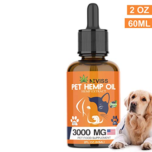 Nevissbags-Hemp-Oil-for-Dogs-Cats-3000mg-Pain-Anxiety-Relief-for-Pets-100-Natural-Organic-Hemp-Herbal-Extract-Supports-Hip-Joint-Health-Pet-Omega-3-6-9-Made-in-USA