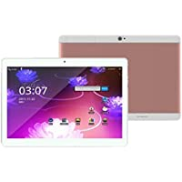 10.1 inch Tablet PC With 5-Point IPS HD Capacitive Touch Screen, Tuscom Mic WIFI Android 6.0 Octa Core 4+64G 10.1 Inch 2 SIM 4G HD Blutooth 4.0 Tablet PC (Rose Gold)