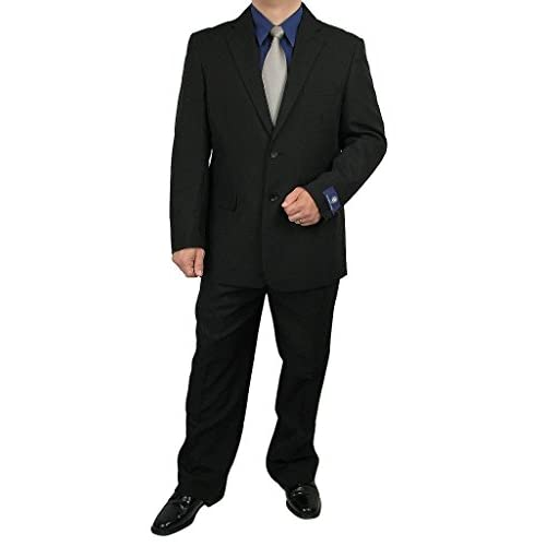 Sharp 2-Piece Men's 2 Button Dress Suit - Black 54L on sale