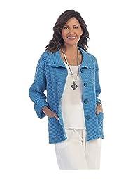 Focus Fashion Women's Cotton Big Waffle All Seasons Jacket