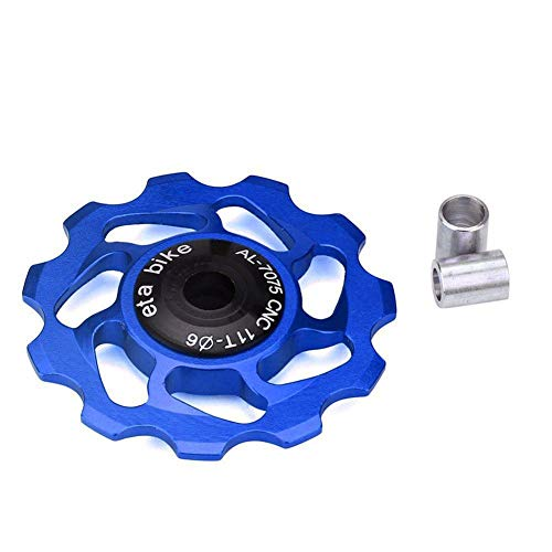 HEALTHLL 11T MTB Bicycle Rear Derailleur Jockey Wheel Ceramic Bearing Pulley AL-7075 CNC Road Bike Guide Roller Idler Blue