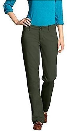 Pantalones de Tela De Algodón Estilo Chinos Mujer de Eddie Bauer ...