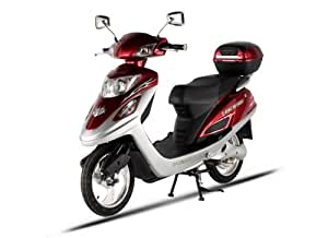 X-Treme Scooters Electric Bicycle Scooter Moped (Burgundy)