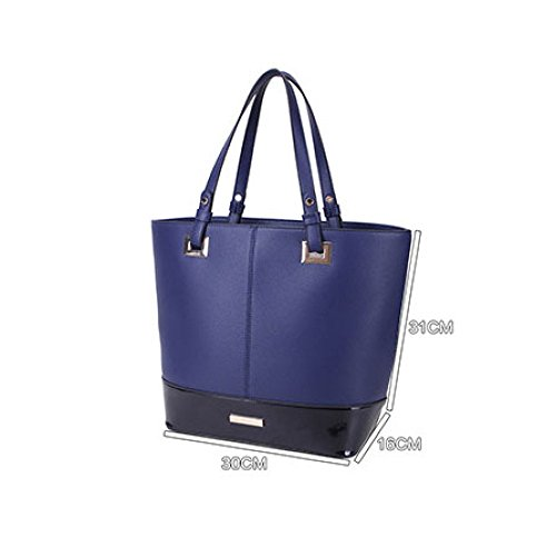 Vertical Women's Black Casual Litchi Personality Tote Fashion Square Pattern XxPFXp