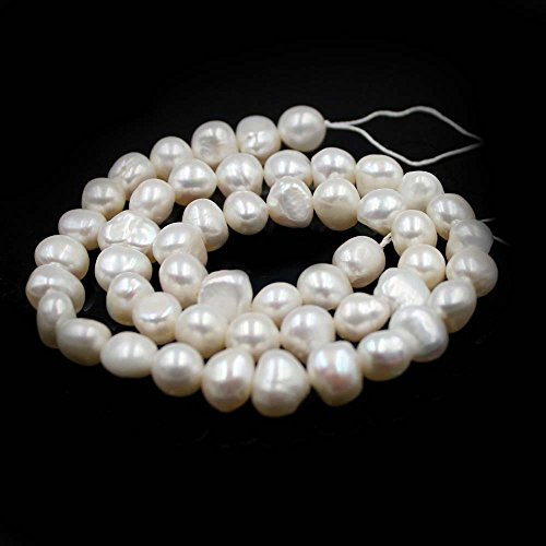 SR BGSJ Jewelry Making Natural 7-9mm Freeform Baroque Potato Shape Freshwater Pearl Spacer Beads Strand 15""